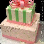 BC Dbl Giftbox Cake w Bow